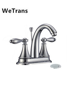 Dual Handle Brass Bathroom Basin Faucet with cUPC