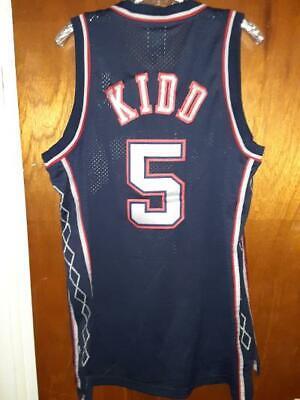 New Jersey Nets Jason Kidd NBA Reebok Jersey Sewn Stitched Mens Size Large EUC