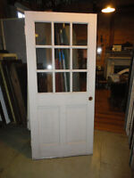 WANTED!!! WOOD DOOR PORTE FENETRE WINDOW 33 1/2 by 81 1/4 inches