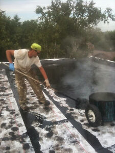 FLAT ROOFING EQUIPMENT FOR HOT TAR ROOFING
