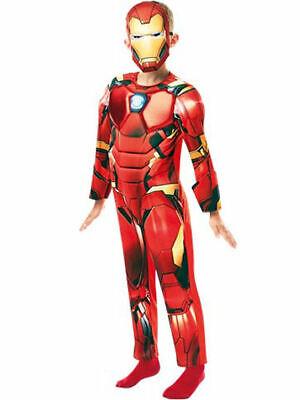 Premium Iron Man - Kinderkostüm 5-7 Jahre mit Maske Marvel Avengers - Iron Mask Kostüm