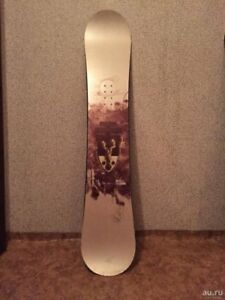 Snowboard - Ride Theory, and Flight MIG bindings