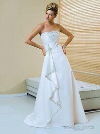 BNWT Ronald Joyce Ivory Satin Wedding dress