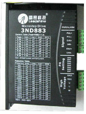 Leadshine 3nd883 Cnc Microstepping Stepper Drive 3-phase 80 Vdc 8.3a Rms 5.9a