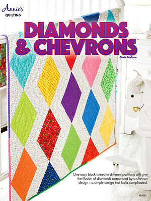 (Diamonds & Chevrons One Easy Block Many Designs Annies Quilting Pattern Leaflet)