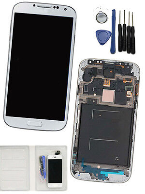 White For Samsung Galaxy S4 M919 i337 Replacement + Frame LCD Digitizer Screen on Rummage