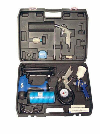 Güde Druckluftgeräte Set Druckluft DL Werkzeug Set 15 tlg. im Koffer 40402