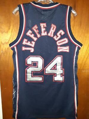 New Jersey Nets Richard Jefferson NBA Reebok Jersey Stitched Mens Sz Medium EUC