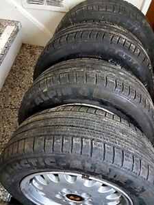 4x WHEELS 5x120, BMWi etc 195 65 15 WINTER EN-FR