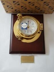 NEW SEIKO BRASS NAUTICAL WALL CLOCK PORTHOLE