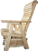 White Cedar Rollback Glider Rocker Chair - FREE SHIPPING
