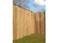 Bamboo Cane Fencing Screening - 2m high by 4m long (3 rolls)