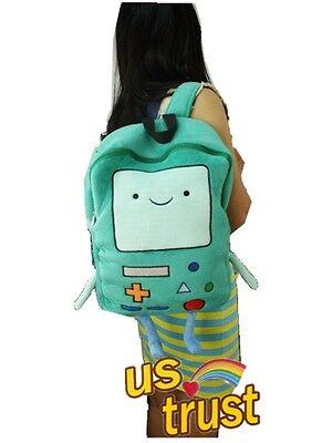Adventure Time Beemo Bmo Plush Backpack Book Bag Rucksack Green