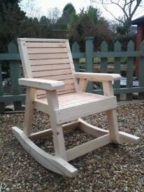 Rocking chair treated