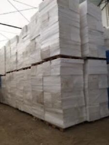 """New unused product - bags of 1.5"""" or 2.0"""" thick EPS (white Styro"""