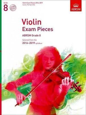 Violin Exam Pieces 2016-2019, Abrsm Grade 8, Score, Part & 3 Cds, ISBN-13 978...
