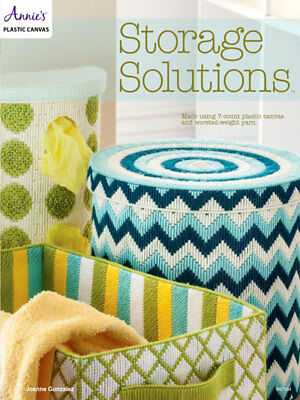 Storage Solutions Bins Containers Boxes Craft Plastic Canvas Patterns Annies NEW (Craft Solutions)