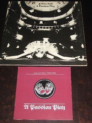 Jethro Tull rare '73 U.K 1st press LP A Passion Play + libretto Chrysalis  EX+