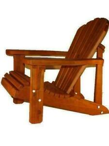 Amish Handcrafted Heavy Duty Cedar Wood Adirondack Muskoka Chairs for Your Cottage, Deck, Patio, Lawn - FREE SHIPPING