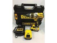 NO OFFERS!!! DeWALT DCD995 18V LI-ION XRP 3 speed BRUSHLESS DRILL+ 2x4ah batt---NEAR NEW---£194.99.