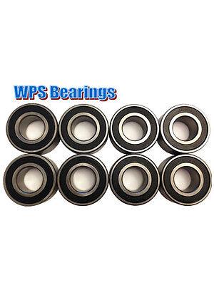 Qty 8 5205-2rs Double Row Angular Contact Ball Bearings 25mm X 52mm X 20.6mm