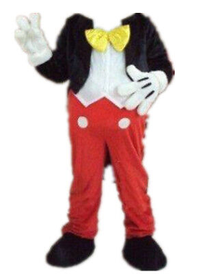 【Top Sale】Mickey Mouse Mascot Costume Adult Size Halloween Party Dress - No Head - Adult Mickey Mouse Halloween Costume