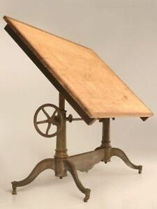 WANTED: Antique or Vintage Wood and Cast Iron Drafting Table