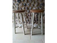 Pair of pine kitchen stools with painted legs  sc 1 st  Gumtree & Pine kitchen stools | Dining u0026 Living Room Furniture for Sale ... islam-shia.org