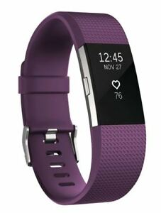 New Open Box Fitbit Charge 2 Fitness Tracker - Large Plum Band