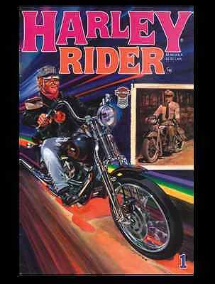 Lot of 2 VTG HARLEY RIDER COMICS - 1988 1ST EDITION Comic - MINT Harley Davidson