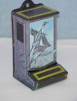 Vintage Jasco Tin Matchbox Holder~Stove~Fireplace~Cabin~Geese in