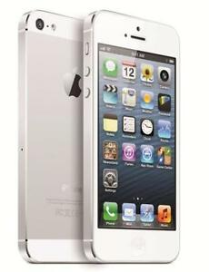 THE CELL SHOP has Factory Refurbished iPhone 5, 64GB, White/Silver, works on Telus or Koodo
