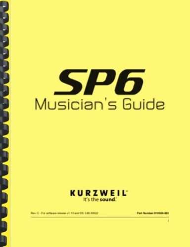 Kurzweil SP6 Synthesizer Musician