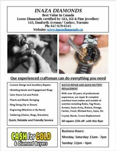 BEST VALUE FOR JEWELLERY & WATCH REPAIRS
