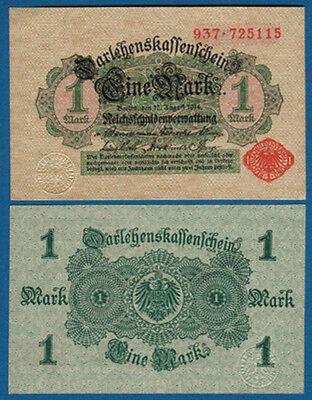 DARLEHENSKASSENSCHEIN 1 Mark 1914 KASSENFRISCH  Ro.51 c