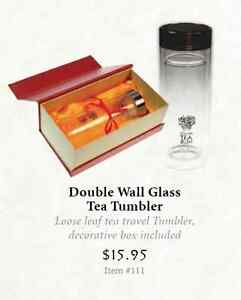 DOUBLE WALL GLASS TEA TUMBLER