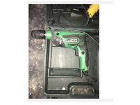 Hitachi Pistol drill 110v