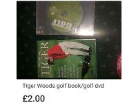Golf tiger woods book & golf dvd