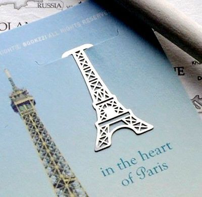 Metal Bookmark France Paris Eiffel Tower Little Stainless Steel - Perfect -