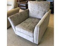 HARVEYS BLAIR VELVET NEW Sofa Arm Chair / RRP £899