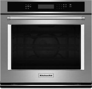 Four encastré KitchenAid 30 po, Convection, Stainless, Showroom