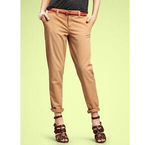 NEW WITH TAGS GAP BROKEN IN STRAIGHT KHAKI'S, SIZE 2