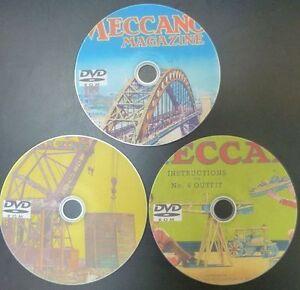 Vintage Meccano Magazines Manuals & Leaflets Plans Building Collection 3 DVD Set