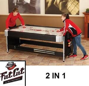 NEW* FAT CAT 2 in 1 POCKEY TABLE 7' AIR HOCKEY BILLIARD POOL TABLES BILLIARDS LEISURE RECREATION GAME GAMES ROOM