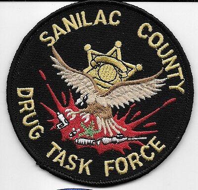 SANILAC COUNTY MI MICH POLICE SHERIFF DRUG TASK FORCE EAGLE NEEDLE SC SO SD