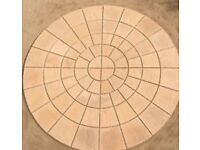 York Riven 3.46m Patio Paving Circle Feature Kit