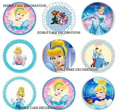 24 x Cinderella Cupcake Fairy Cake Toppers Edible Rice Wafer Paper Decorations