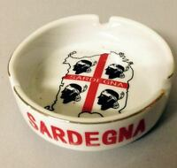 Souvenir Sardegna Posacenere Portacenere In Ceramica Bianca Con 4 Mori -  - ebay.it