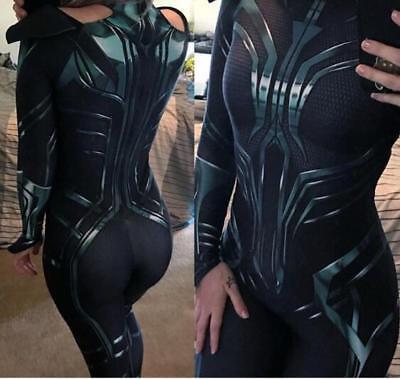 Hela Cosplay Costume Thor Ragnarok Hela women Spandex Halloween Costumes No Cape