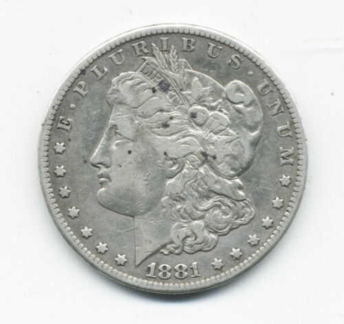 VERY SCARCE DATE 1881cc US MORGAN SILVER DOLLAR